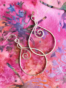 Sterling Swirl Hoops