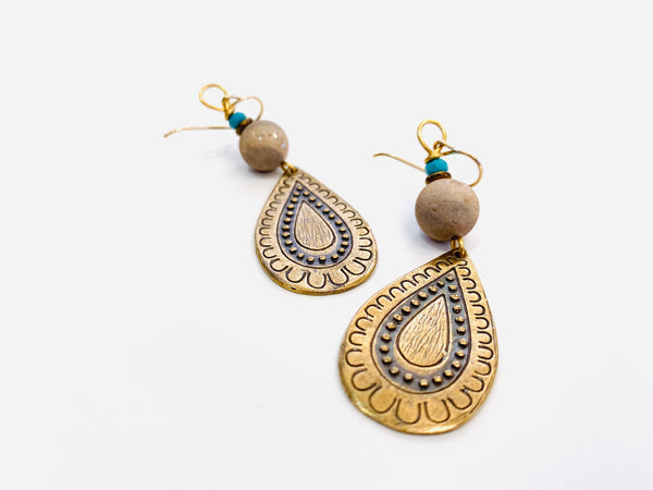 Bohemian Bronze Earrings