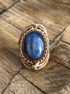 Kyanite Luster Ring