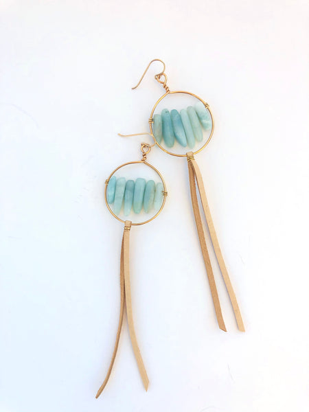 Sun Circle Earrings