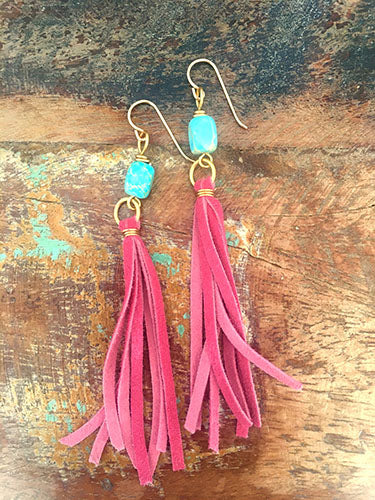 Petunia Tassel Earrings