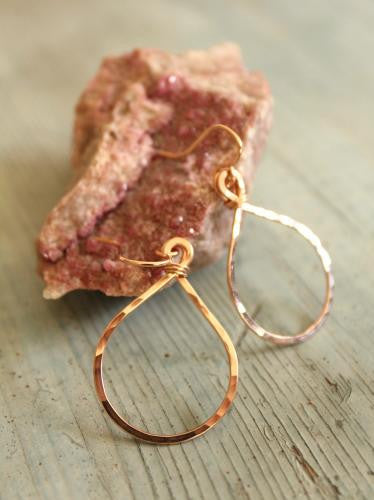 Small Rose Gold Teardrop