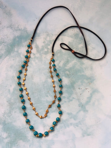 Deep Turquoise Layered Necklace
