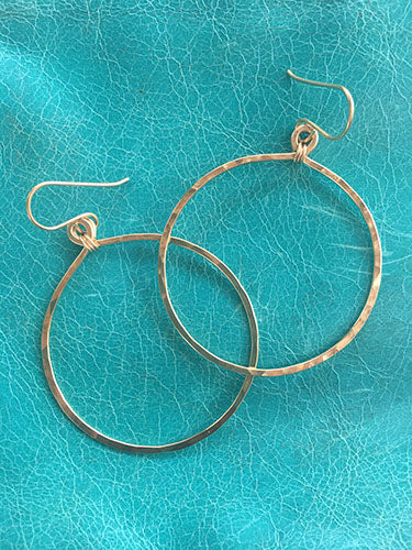 Gold Round Hoops