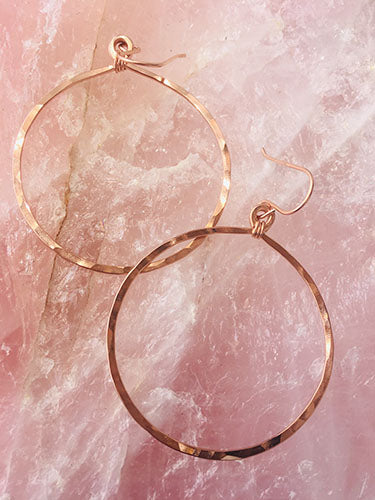 Rose Gold Round Hoops