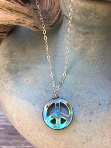 Abalone Peace Necklace