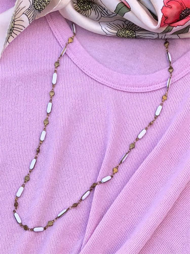 Fresh White Layering Necklace