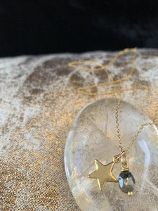Star & Pyrite Necklace