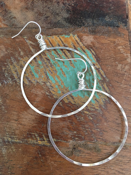 Sterling Messy Wrap Hoops