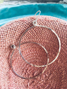 Sterling Round Hoops