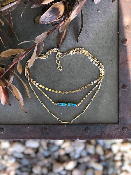 Sunlit Pool Layered Necklace