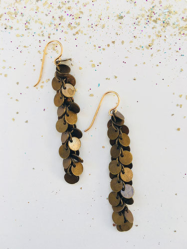 Brass Coins Earrings