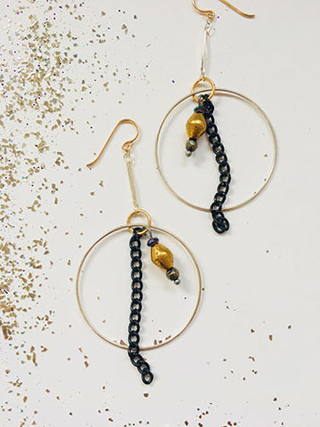 Black Sky Earrings