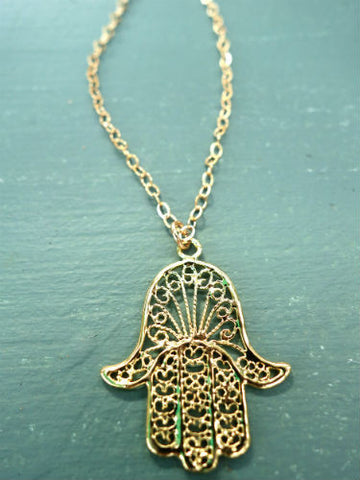 Gold Flowering Hamsa
