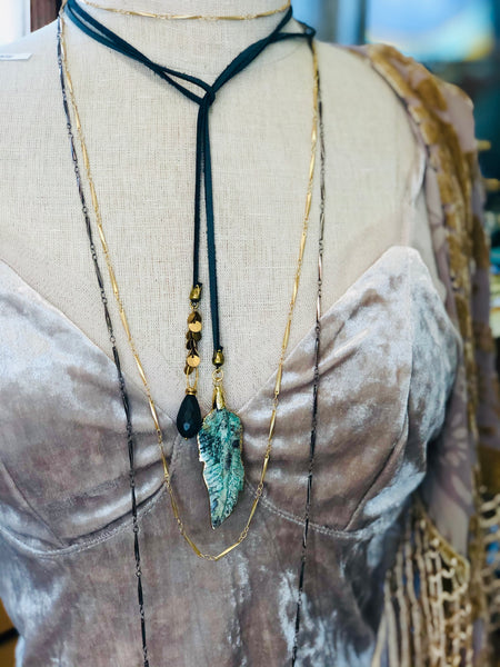 Layering Golden or Gunmetal Necklace