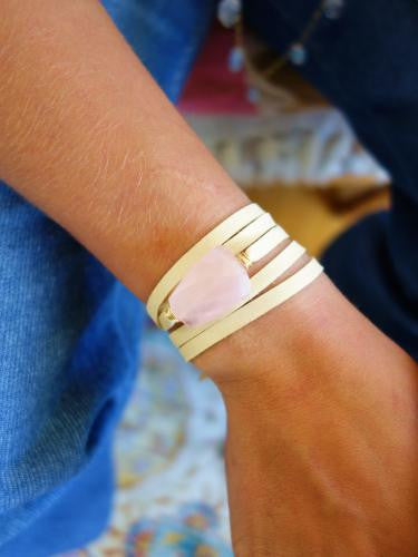 Loving Rose Quartz Wrist Wrap