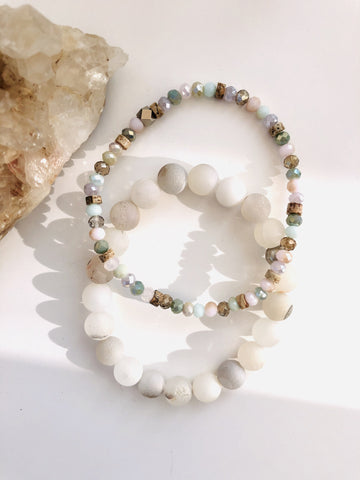 White Light Bracelet Duo