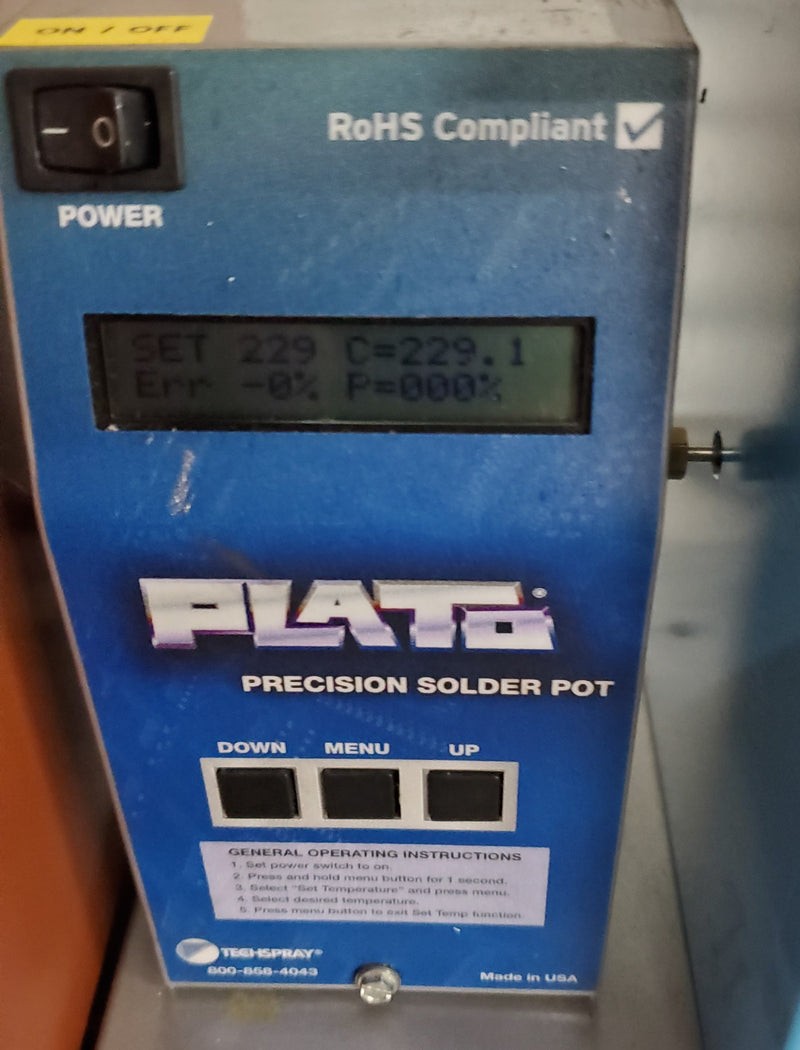 PLATO SP-600T solder pot - full solder 63/37, 100W