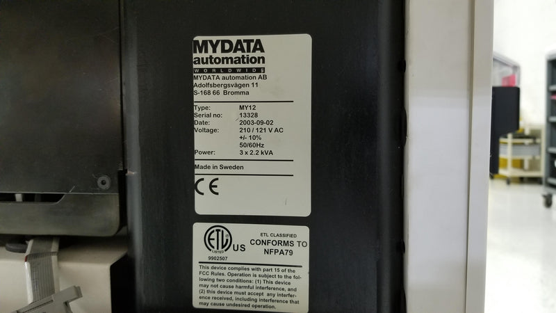 MyData Mycronic My12 TPSyS 2.7, ML3 table, Hydra, Midas