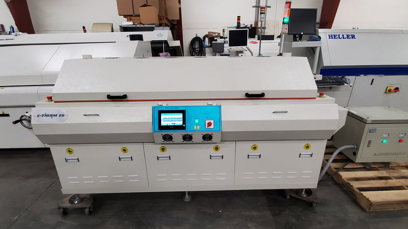 E-Therm E6 6 zone lead free reflow oven - small footprint