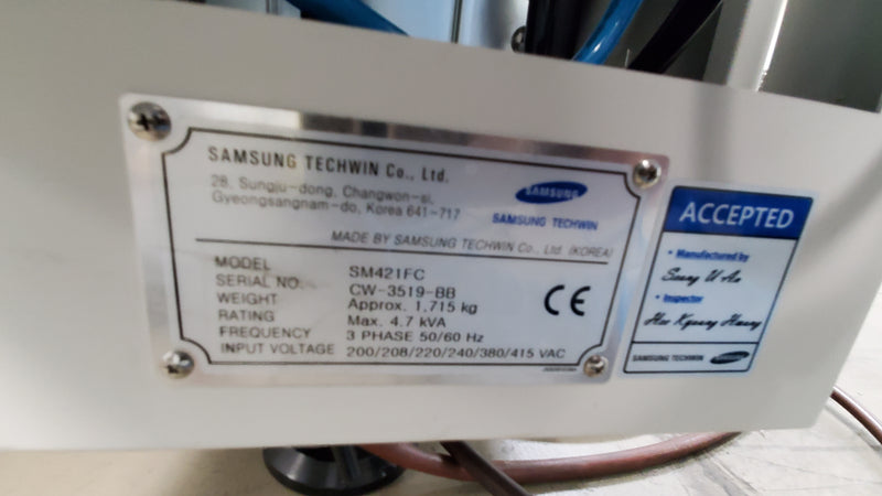 Samsung Hanwha SM421FC 4 head Pick and Place machine w/ Feeders
