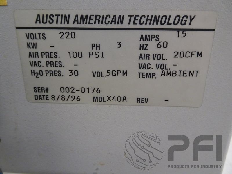 Austin American AAT X40A Stencil Cleaner, closed loop