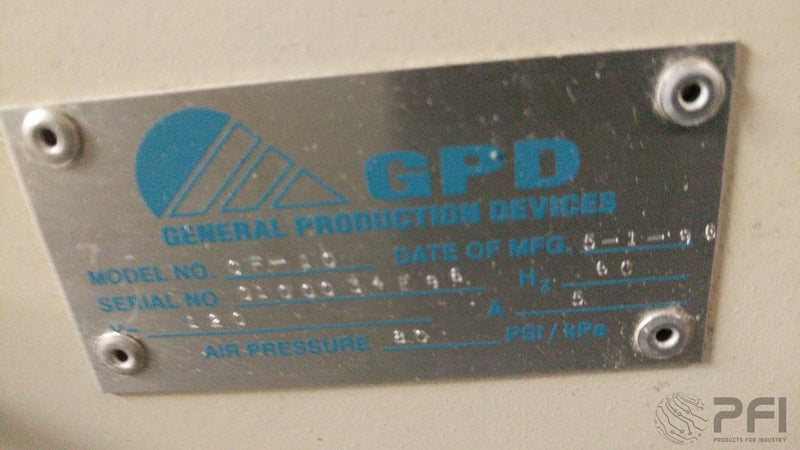 GPD CF-10 Loose Radial Lead Former General Production Devices CF10 Lead Forming