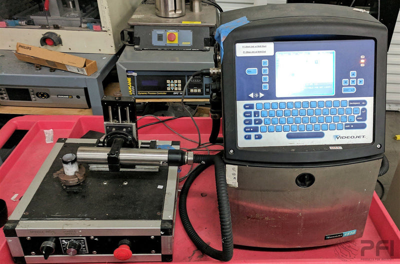 VIDEOJET 1510 Ink Jet marker coding with rotary indexing table