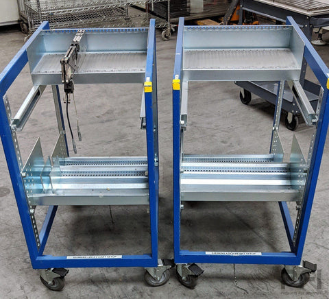 BLISS Siemens ASM S Shultz Series feeder kitting / set up cart