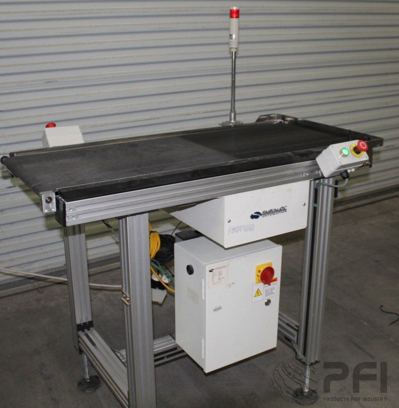 Simplimatic 2170 Flat bed exit conveyor, variable speed 2007