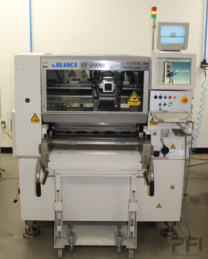 JUKI KE-2070L 18,300CPH 6 Head pick and place machine