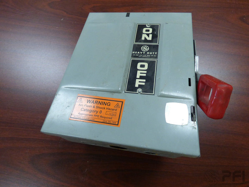 GE THN3361 MOD 4 30A AMP NON-FUSIBLE SAFETY SWITCH DISCONNECT 600V , HEAVY DUTY