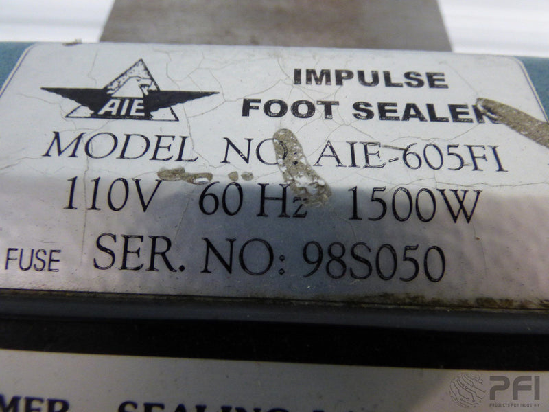 "AIE Impulse Foot Sealer Model  AIE 605-FI 24"" wide"