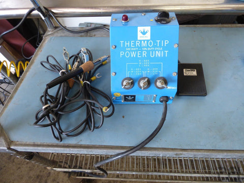 IDEAL Esico Triton Thermo-Tip 500 Watt Power Unit 12163 Solder Station with Iron