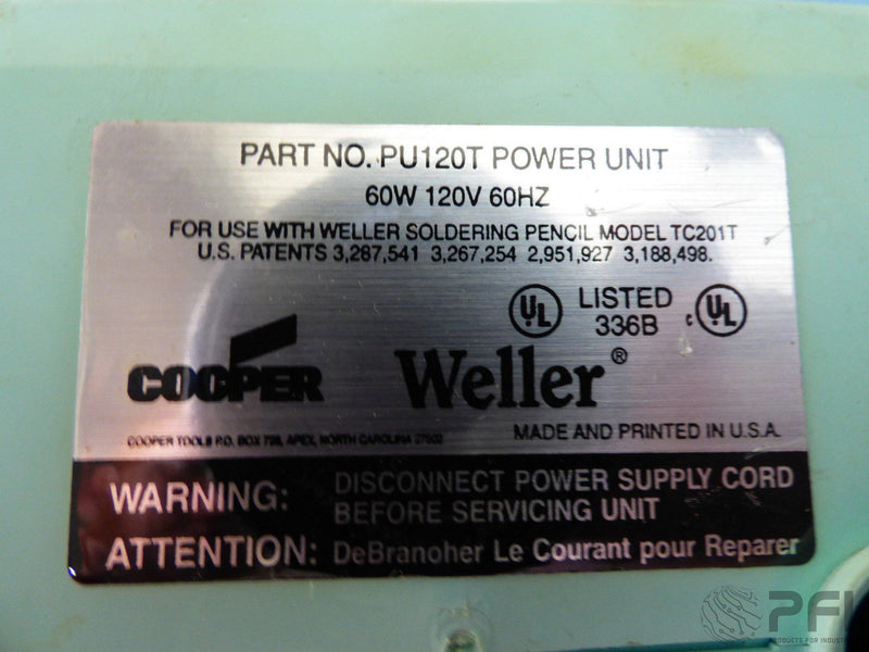 Weller WTCPT Soldering Station PU120T Power Unit 60W Solder Station Cooper