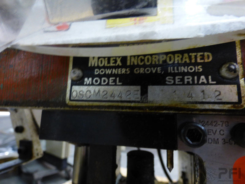 Molex P-4979A Bench Crimper with foot switch and OSCM2442E Applicator