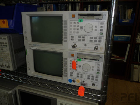 HP-Agilent-8712ET-300kHz-1300MHz-RF-Network-Analyzer Working-Unit and power cord