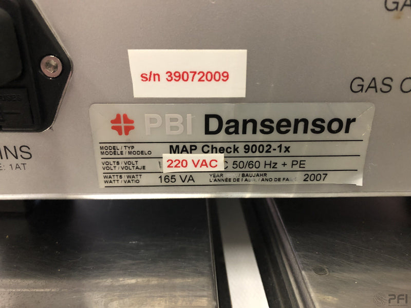 PBI Dansensor Map Check 9000 O2 Analyser