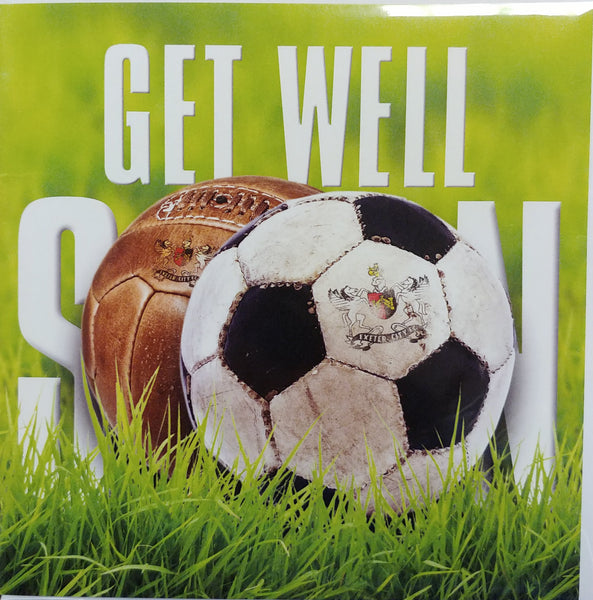 ECFC Get Well Soon Card - Footballs