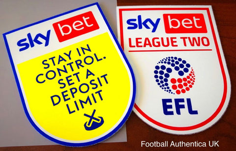 20/21 Bet League Two - Sleeve Patch Printing - OVER 18s ONLY