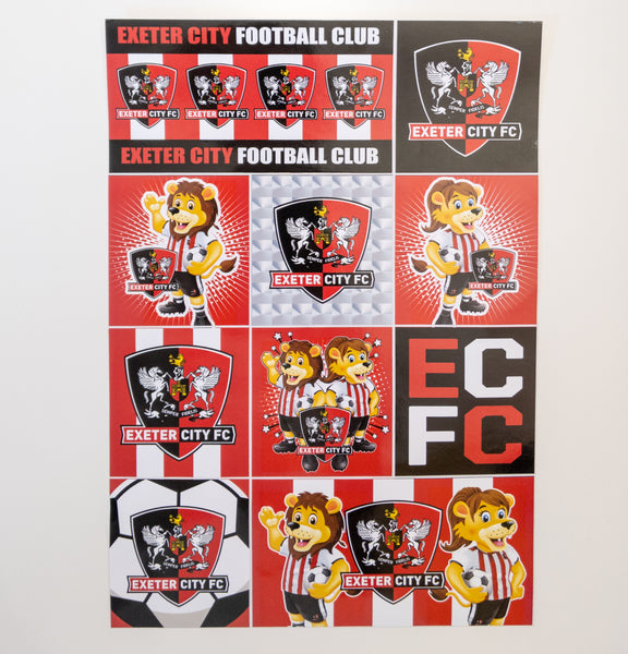Mascot A4 Sticker Set