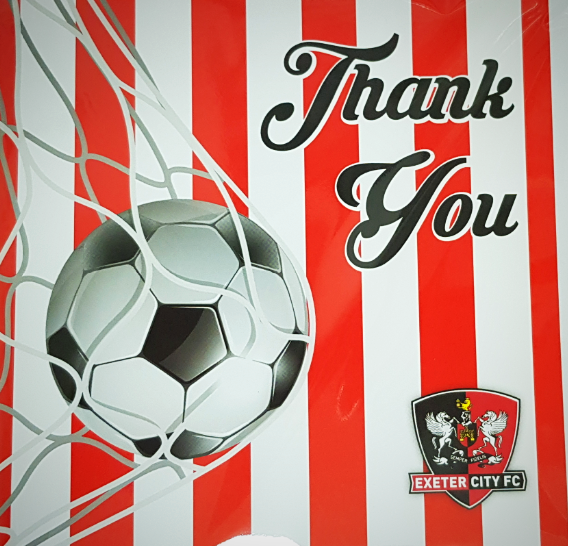 ECFC Thank You Card - Net Bulging