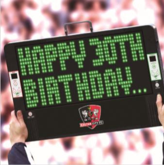 ECFC Birthday Card - Happy 30th