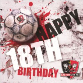 ECFC Birthday Card - Happy 18th Ball Splat