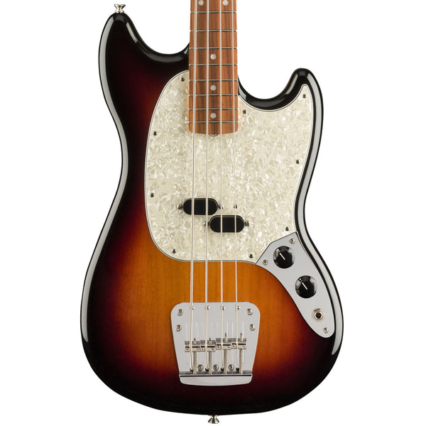 Fender Vintera '60s Mustang Bass, Pau Ferro Fingerboard, 3-Color Sunburst Body | Lucky Fret Music Co.