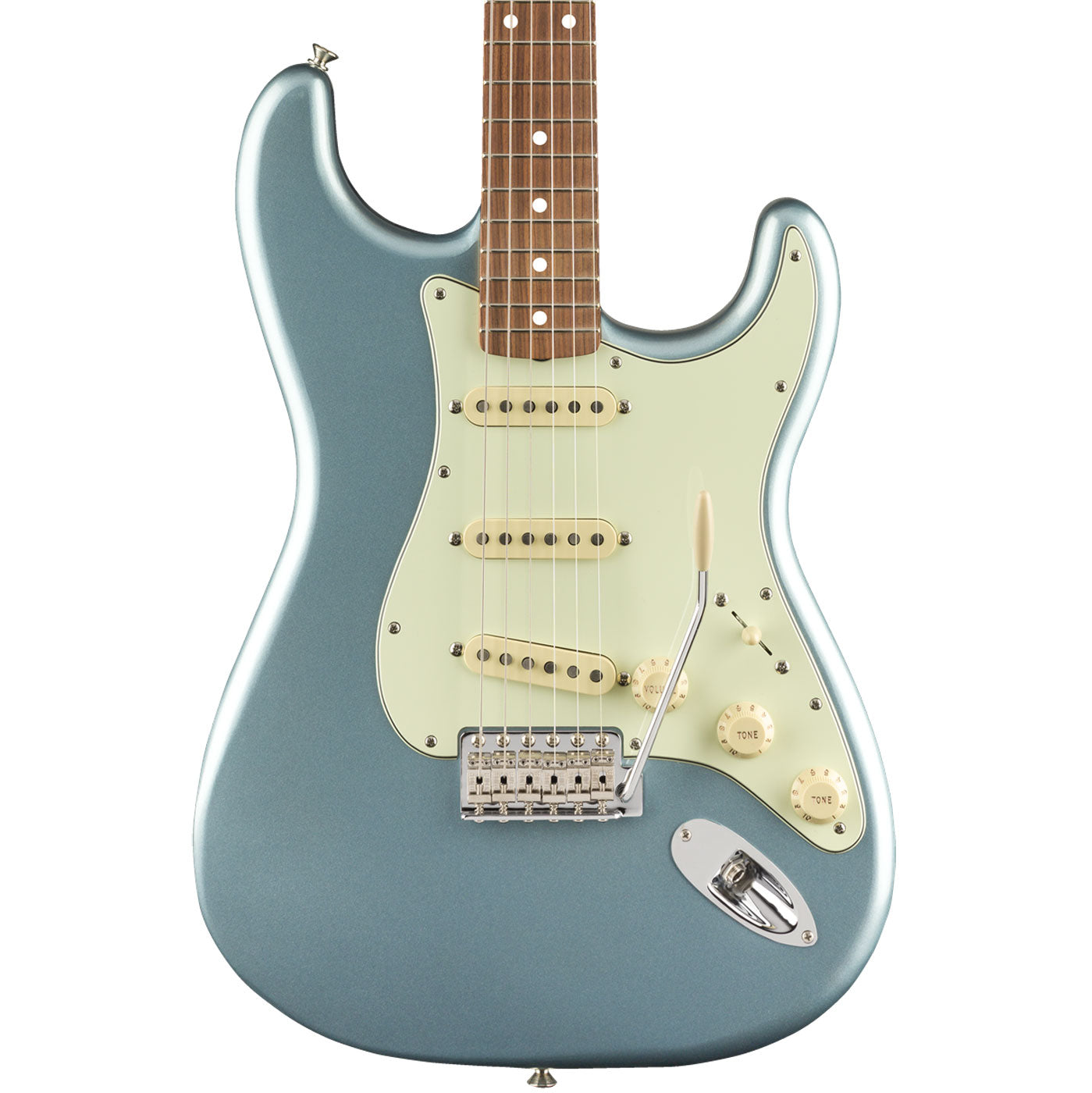 Fender Vintera '60s Stratocaster, Pau Ferro Fingerboard, Ice Blue Metallic Body | Lucky Fret Music Co.