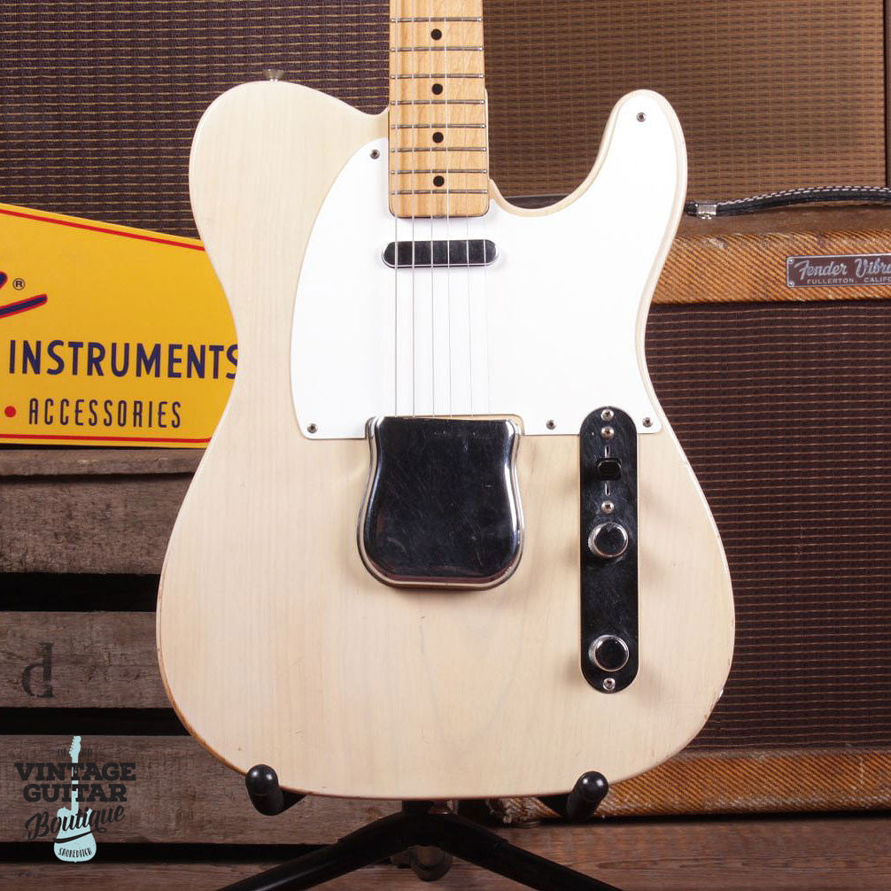 1957 Fender Telecaster - Blonde - Vintage Guitar Boutique - 2