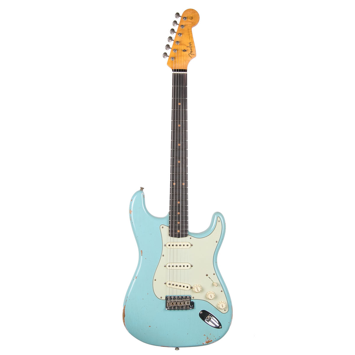 Fender Custom Shop 1960 Relic Stratocaster Aged Daphne Blue | Lucky Fret Music Co.