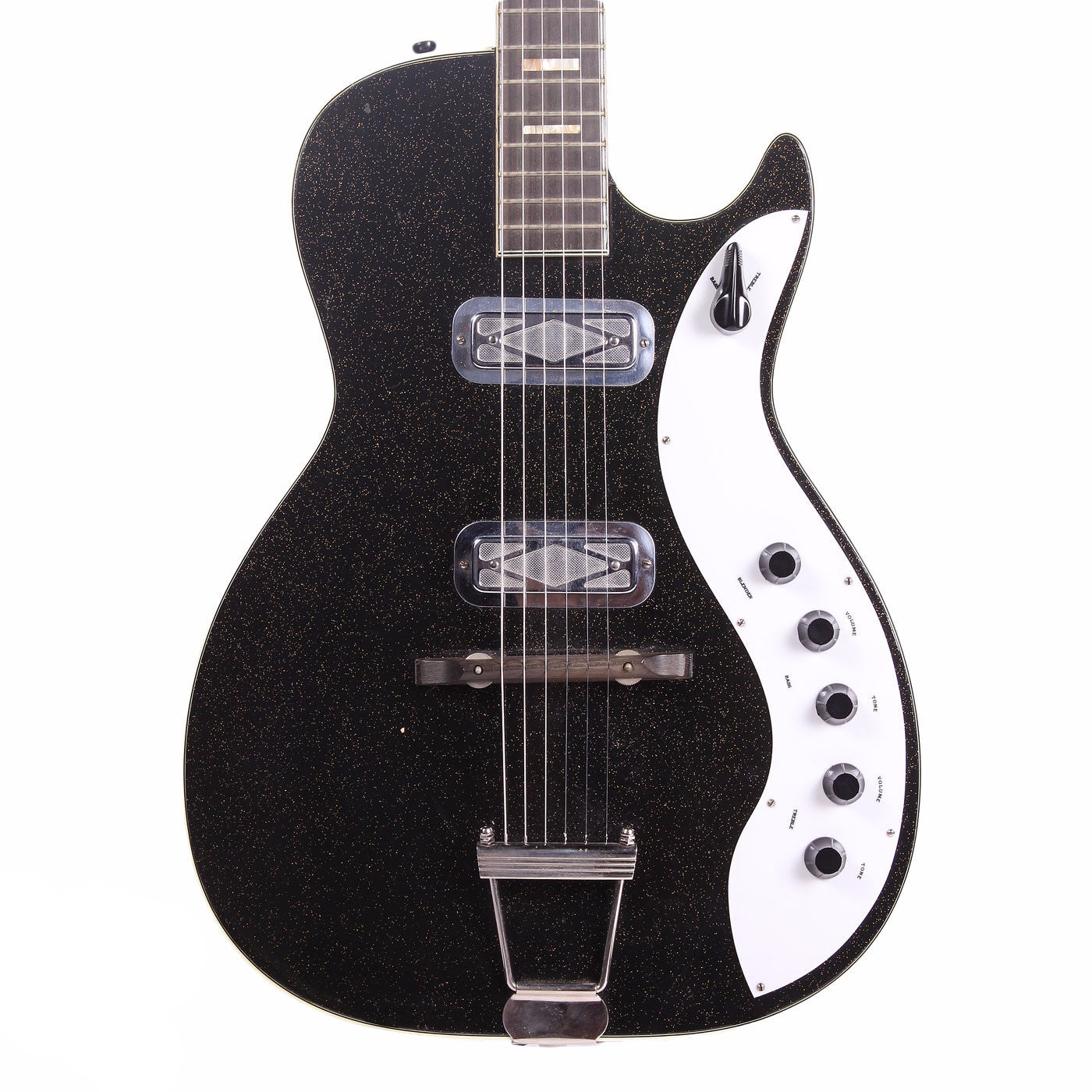 1960s Silvertone Jupiter - Black Sparkle - Vintage Guitar Boutique