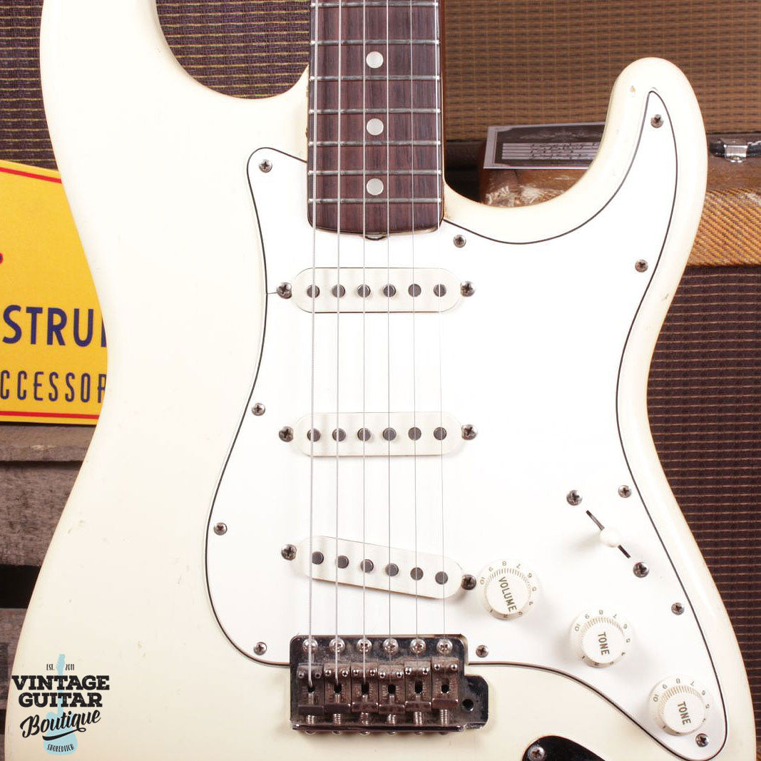 1965 Fender Stratocaster - Olympic White - Vintage Guitar Boutique - 4